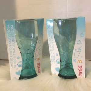 Coca Cola Mcdonald's 2014 glasses